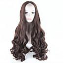 2016 Frauen synthetischen dunkelbraune Perücke langen gewellten Haar volle Perücke African American Haarperücke Cosplay Perücke