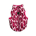 Dog Coat Rose Dog Clothes Winter Leopard Casual/Daily
