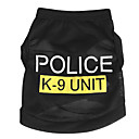 Dog Shirt / T-Shirt Blue / Black / Pink Dog Clothes Summer Police/Military Casual/Daily