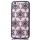 Snowflake Pattern Embossed Printing Transparent Hollow Acrylic material TPU Combo Phone Case for iPhone  6S 6plus SE 5S