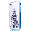 Für iPhone 7 Hülle / iPhone 6 Hülle / iPhone 5 Hülle Transparent / Muster Hülle Rückseitenabdeckung Hülle Elefant Weich TPU AppleiPhone 7