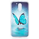 Für Im Dunkeln leuchtend / Muster Hülle Rückseitenabdeckung Hülle Schmetterling Weich TPU für Motorola MOTO G4