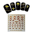 1sheet  Gold Nail Stickers XF6018