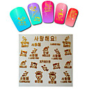 1sheet  Gold Nail Stickers XF6019