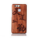 For Shockproof Embossed Pattern Case Back Cover Case Word Hard Solid Wood for Huawei P9 Huawei P9 Lite