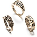 Ring Euramerican Daily Jewelry Alloy Ring 1set,One Size Gold