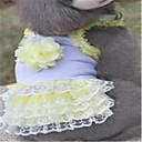 Hunde Kleider Hundekleidung Frühling/Herbst Bestickt Niedlich Purpur Gelb