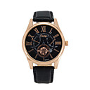 Men's Skeleton Watch Fashion Watch Chinese Quartz Leather Band Black