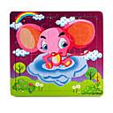 Jigsaw Puzzles Jigsaw Puzzle Building Blocks DIY Toys Elephant Flower Wooden