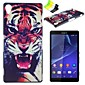 Roaring Tiger Pattern PC Hard Case and Phone Holder for Sony Xperia Z3