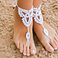 Crochet Barefoot Sandals,Beach Pool Wear,Accessories, Fashion Accessory,Toe Ring Anklet, Ankle Bracelet(1Pair)