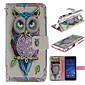 Persönlichkeit Eulen-PU-Leder Ganzkörper-Fall mit Ständer und Karten-Slot für Sony Xperia m2