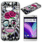 Skull Pattern Painted PC Material Phone Case for HTC M8