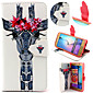 Giraffe Pattern with Card Bag Full Body Case for Samsung Galaxy S6/ S6 Edge