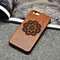 Wooden iphone Case Lucky Flower Carving Concavo Convex Hard Back Cover for iPhone 5/5S/SE