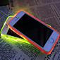 neue Visier Anruf führte blinken transparente TPU rückseitigen Abdeckung für iphone 5 / 5s (verschiedene Farben)