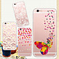 MAYCARI®Butterfly and Flower Soft Transparent TPU Back Case for iPhone 6 Plus/6S Plus(Assorted Colors)