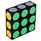 Magic Cube IQ Cube LL Three-layer Speed Smooth Speed Cube Magic Cube puzzle White / Black ABS