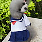 Cat / Dog Costume / Dress White Dog Clothes Summer / Spring/Fall Sailor Fashion / Cosplay