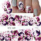 Fashion Printing Pattern Flowers Nail Stickers