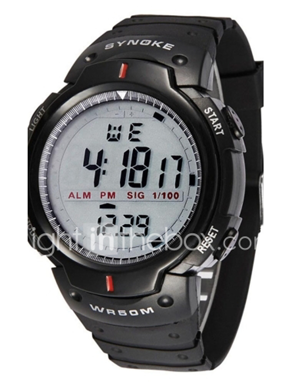 Wrist watch on discount - Synoke Men S Watch Sports Digital Waterproof Wristwatch With Alarm Clock Stopwatch Led Wrist Watch Cool Watch